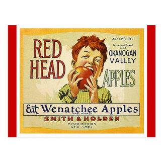 Vintage rote postkarte