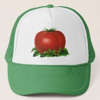 Vintage rote reife Tomate, Gemüse und Früchte Truckerkappe