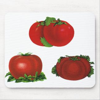 Vintage rote reife Tomaten Nahrung, Früchte, Mauspads