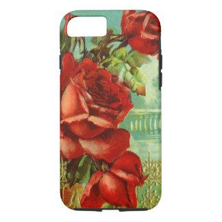 Vintage Rote Rosen iPhone 7 Hülle