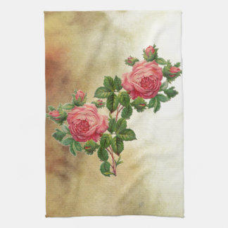 Vintage Rote Rosen Küchenhandtücher