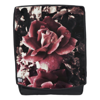 Vintage Rote Rosen Rucksack