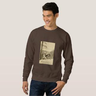 Vintage Rotwild im Winter Sweatshirt
