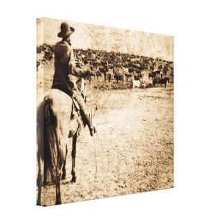 Vintage Runde oben auf Sherman-Ranch Kansas Gespannte Galeriedrucke