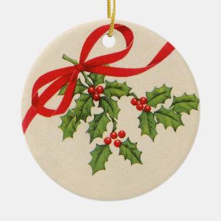 Vintage runde Weihnachtsverzierung Rundes Keramik Ornament