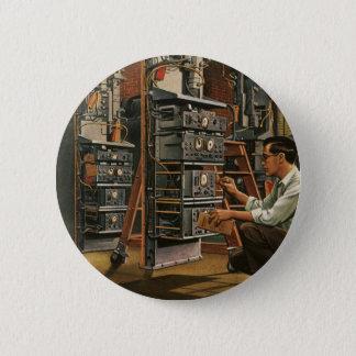 Vintage Runder Button 5,7 Cm