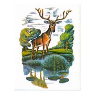 Vintage russische Illustrationen, Äsops Fabeln 4 Postkarten