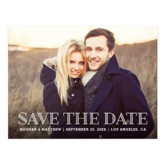 Vintage rustikale Save the Date Postkarte