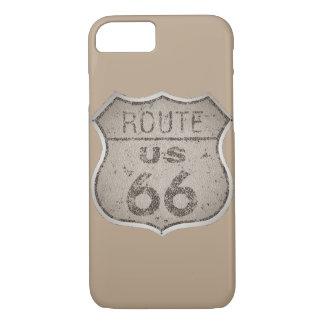Vintage rustikales Metall des Weg-66 iPhone 8/7 Hülle