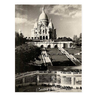 Vintage Sacré-Coeur de Montmartre in Paris-Foto Postkarte