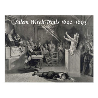 Vintage Salem-Hexe-Versuche, Postkarte Salems MA