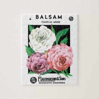 Vintage Samen-Paket-Aufkleber-Kunst, Puzzle