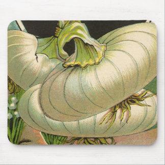 Vintage Samen-Paket-Aufkleber-Kunst-weiße Mauspad