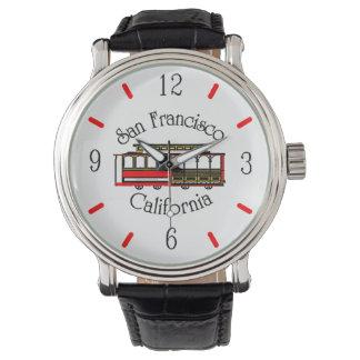 Vintage San Francisco Drahtseilbahn Uhr