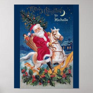 Vintage Sankt auf Schwingpferdewert-Plakat Poster