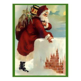 Vintage Sankt, die unten der Kamin (Nizza, kommt Postkarte