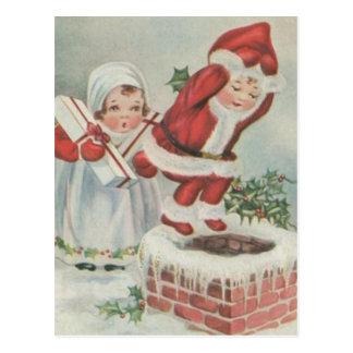 Vintage Sankt-Kinder Postkarten