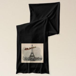Vintage Sankt über Paris-Weihnachtsschal Schal