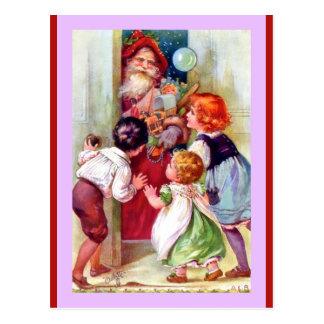 Vintage Sankt und Kinder (eine Biese Oilette Postkarte