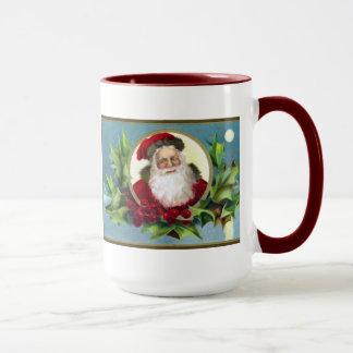 Vintage Sankt- und Stechpalmen-WeihnachtsTasse Tasse