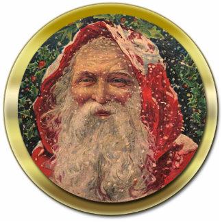 Vintage Sankt-Verzierung Fotoskulptur Ornament