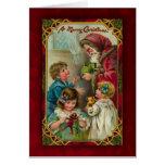 Vintage Sankt-Weihnachtskarte Grußkarte