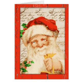 Vintage Sankt-Weihnachtskarte Karte