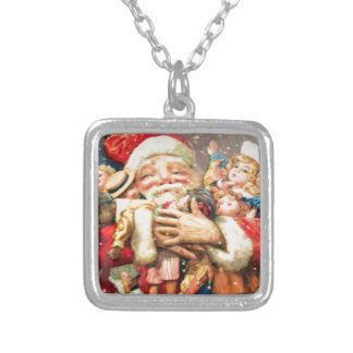 vintage-santa-christmas-post-cards-0004 versilberte kette