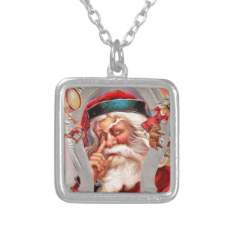 vintage-santa-christmas-post-cards-0017 versilberte kette