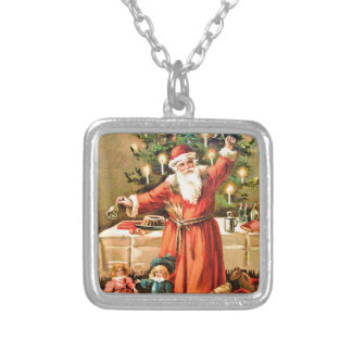 vintage-santa-christmas-post-cards-0018 versilberte kette
