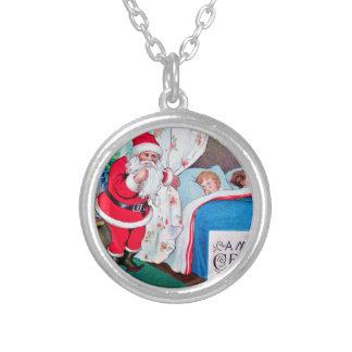 vintage-santa-christmas-post-cards-0026 versilberte kette