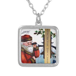 vintage-santa-christmas-post-cards-0027 versilberte kette