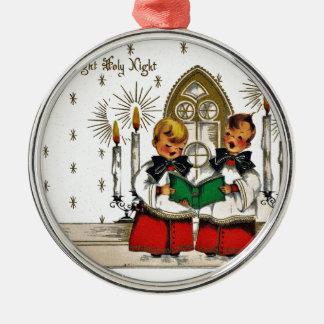 vintage-santa-christmas-post-cards-0029 silbernes ornament
