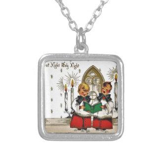 vintage-santa-christmas-post-cards-0029 versilberte kette