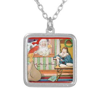 vintage-santa-christmas-post-cards-0042 versilberte kette