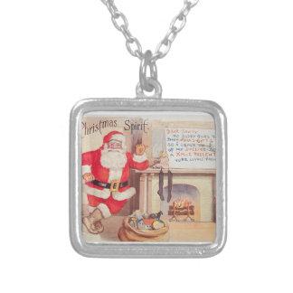 vintage-santa-christmas-post-cards-0355 versilberte kette