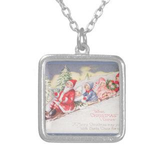 vintage-santa-christmas-post-cards-0390 versilberte kette