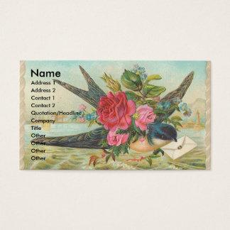 Vintage Scheunen-Schwalbe liefert einen Umschlag Visitenkarte