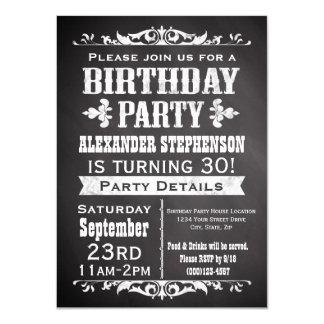 Vintage Schiefer-Tafel-Geburtstags-Party Einladung 11,4 X 15,9 Cm Einladungskarte
