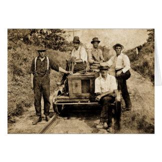 Vintage Schienen-Crew circa 1890s-1910 Karte