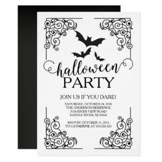 Vintage Schläger-Halloween-Party-Einladung Karte