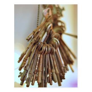 Vintage Schlüssel Skeleton Schlüssel Vintag Postkarte