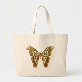 Vintage Schmetterlings-Taschentasche Jumbo Stoffbeutel