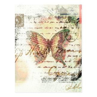 Vintage Schmetterlingspost Postkarte