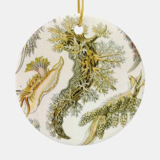 Vintage Schnecken und Seeschnecken, Keramik Ornament