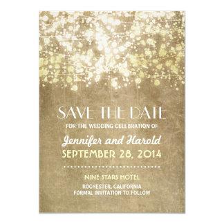 Vintage Schnur beleuchtet Save the Date Karten 11,4 X 15,9 Cm Einladungskarte