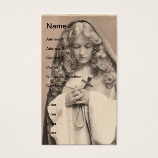 Vintage schöne Dame Visitenkarte