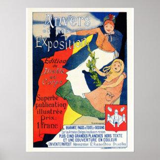 Vintage Schönheit époque Poster