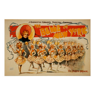 Vintage Schönheit von New- Yorkplakat Poster