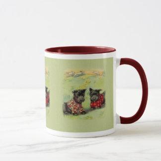 Vintage schottische Terrier-Kaffee-Tasse Tasse